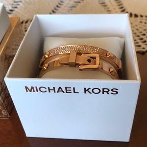 Authentic Michael Kors Bracelet Set in Rose Gold